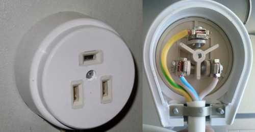 Замена розетки 3 провода