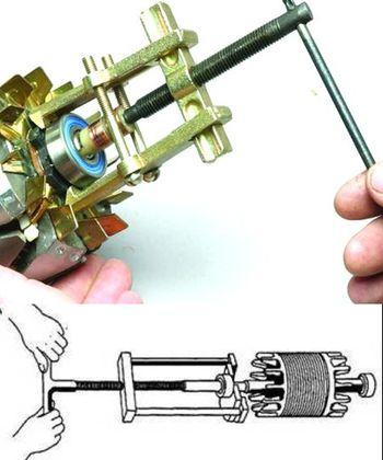 Как снять подшипник электродвигателя