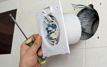 Установка вентилятора в ванную