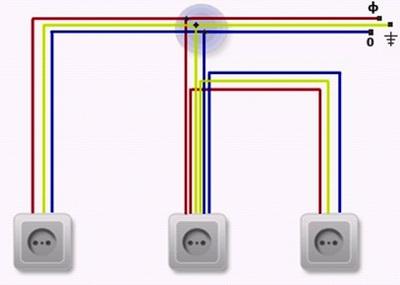 как правильно подключить розетку на 220 вольт