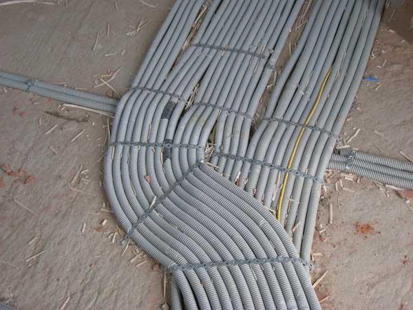 Электропроводка в полу