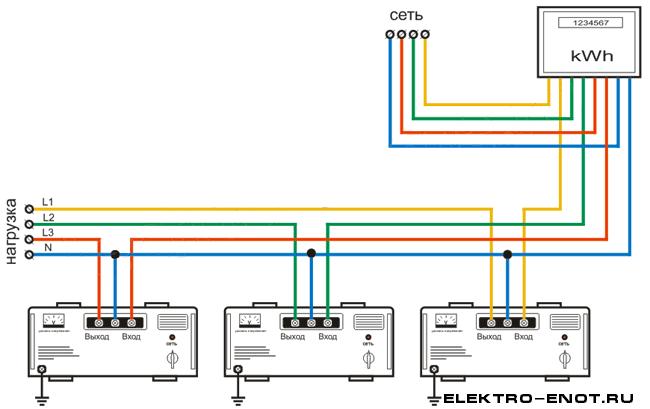 схема подключения стабилизатора напряжения с 3 контактами