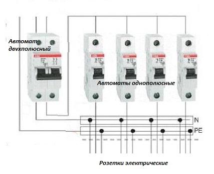 Установка автомата в щиток схема 4