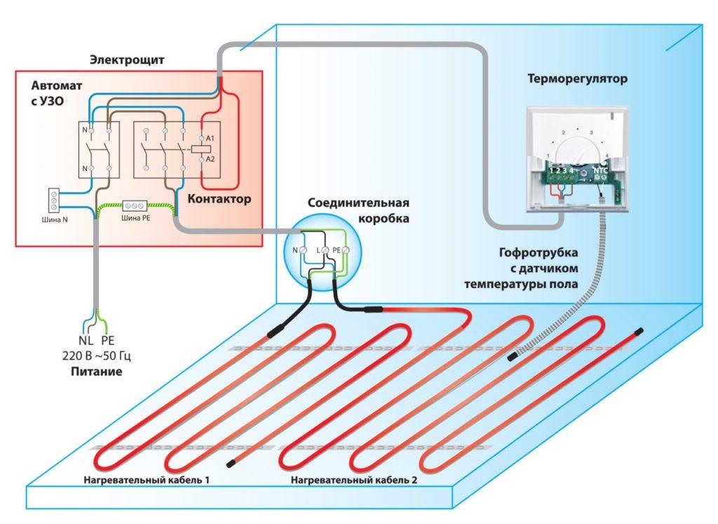 Схема подключения Термомат